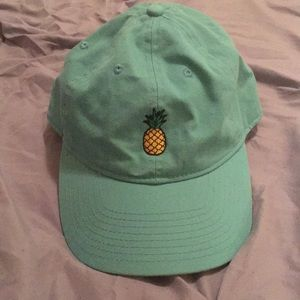 Pacsun Pineapple Turquoise Dad Hat